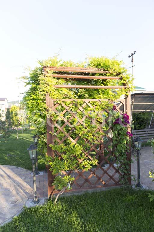 Деревянная арка в саду