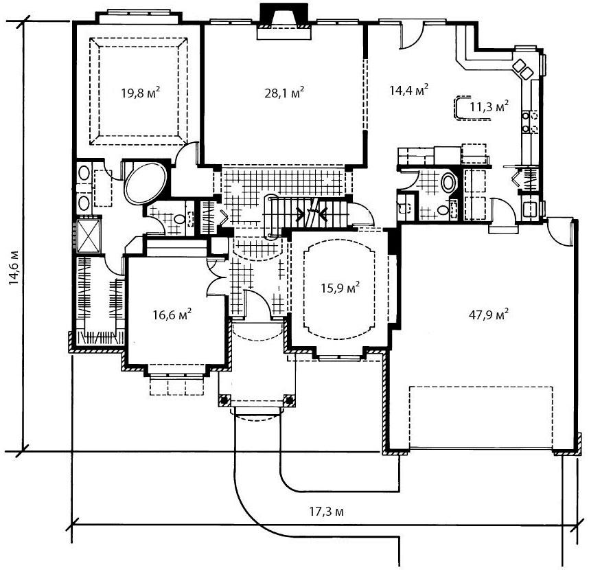 План первого этажа 1