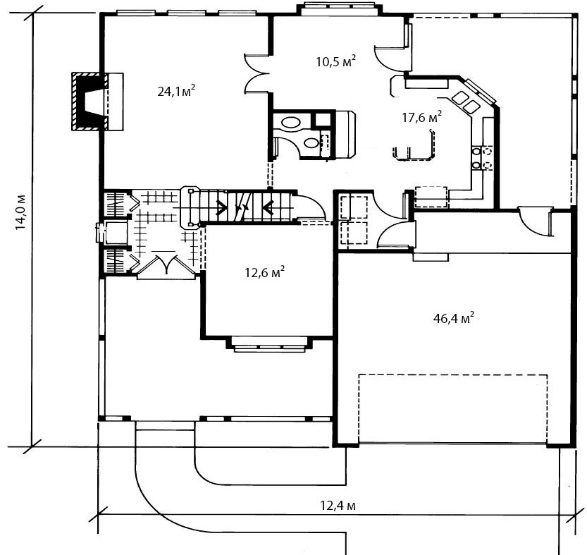 План первого этажа 12