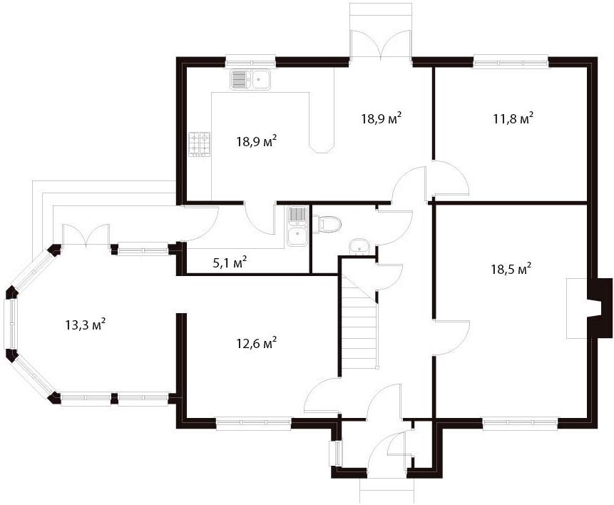 План первого этажа 13