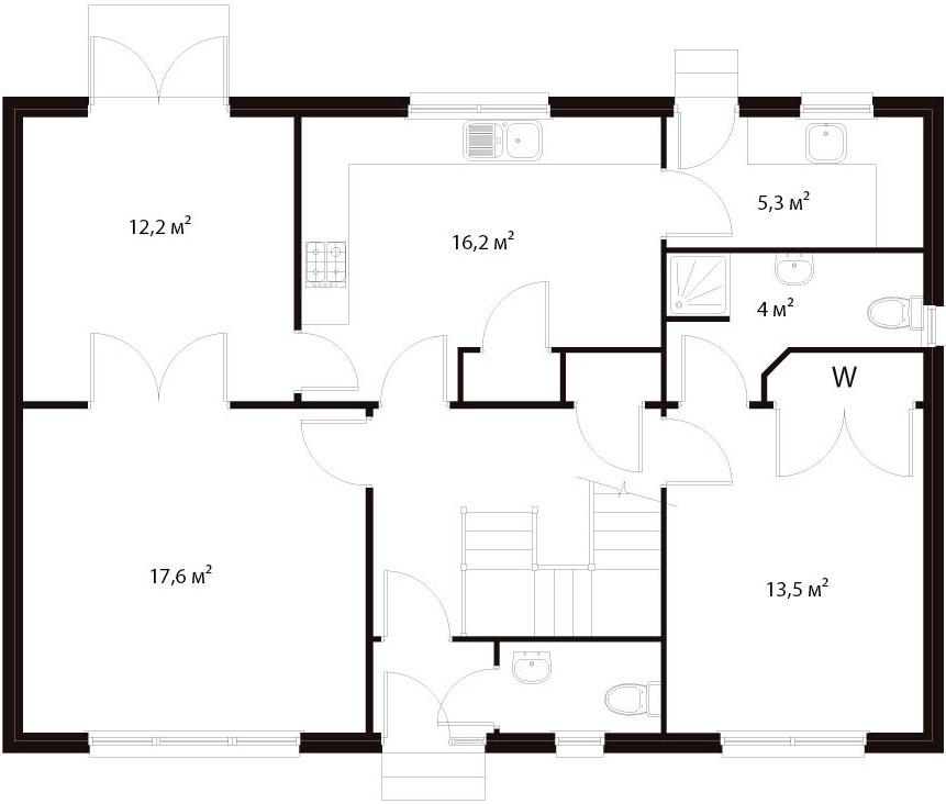 План первого этажа 32
