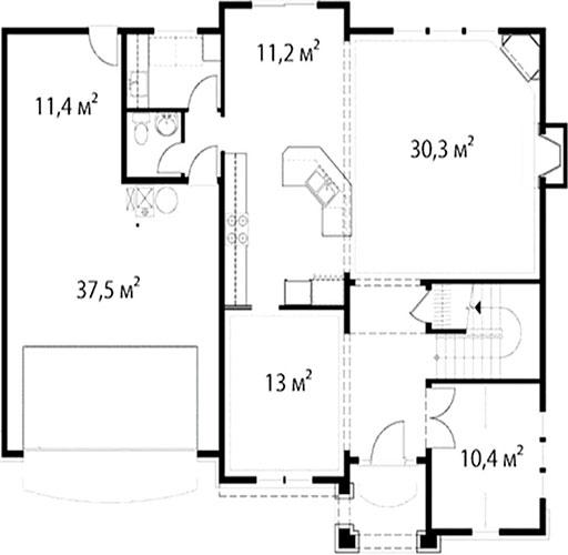 План первого этажа 34