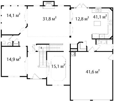 План первого этажа 54