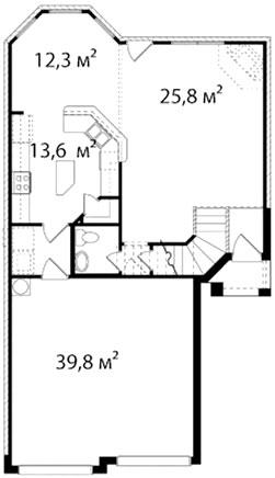 План первого этажа 55