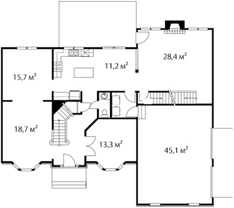 План первого этажа 64