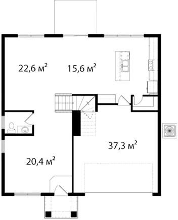 План первого этажа 66