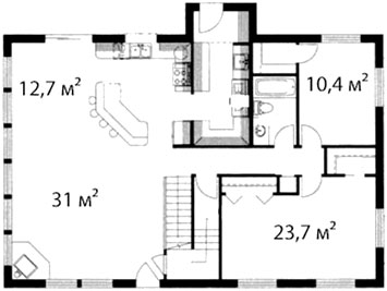План первого этажа 69