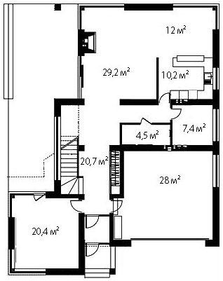 План первого этажа 70