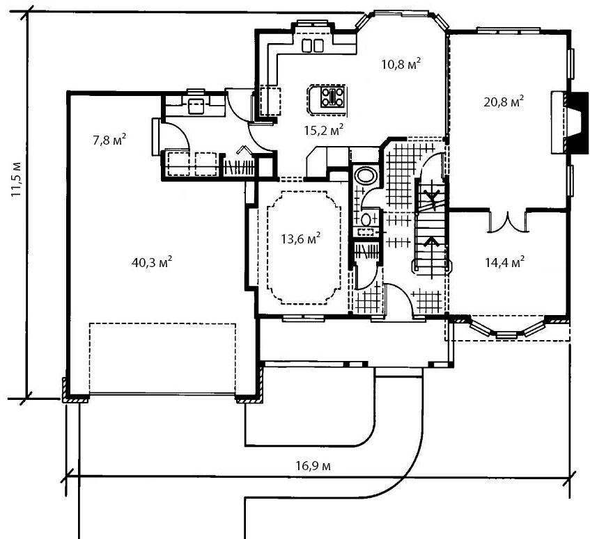 План первого этажа 8