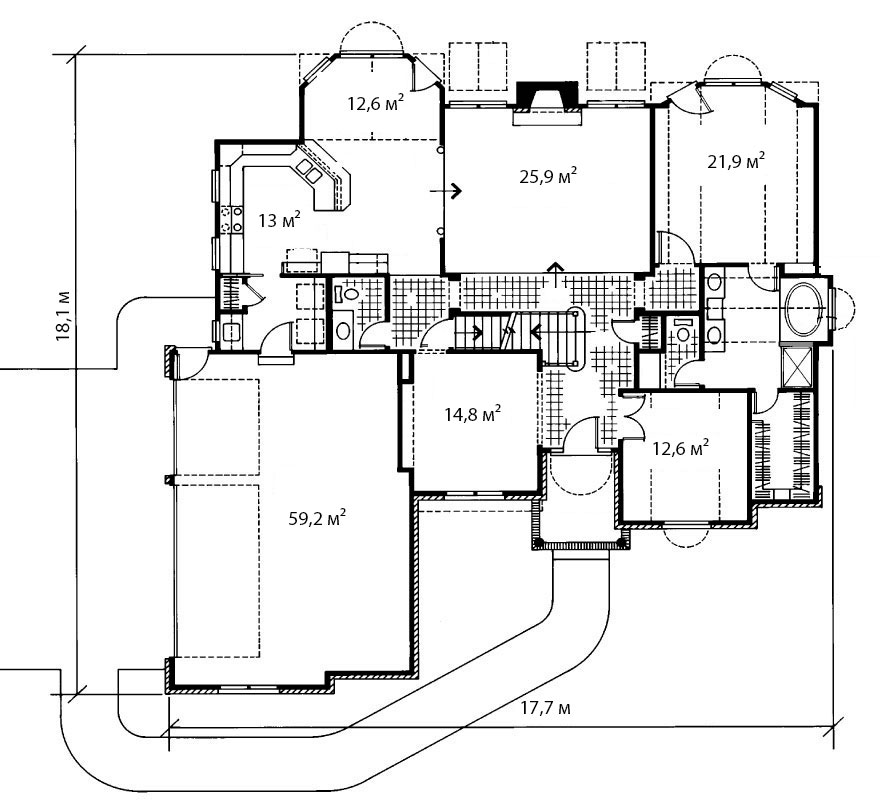 План первого этажа 9