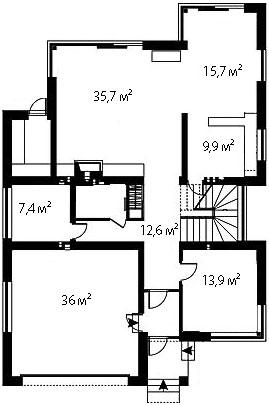 План первого этажа 100