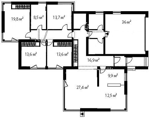 План первого этажа 103