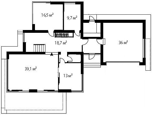 План первого этажа 75