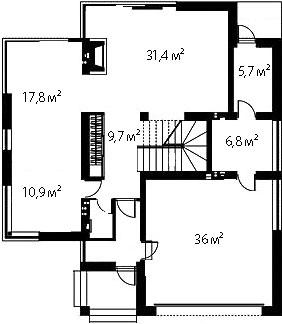 План первого этажа 77