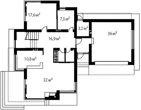 План первого этажа 80