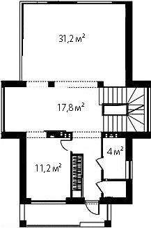 План первого этажа 84