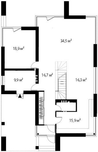План первого этажа 85