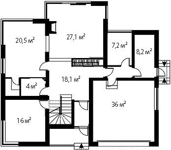 План первого этажа 86
