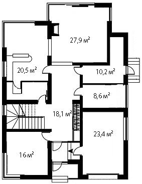 План первого этажа 87