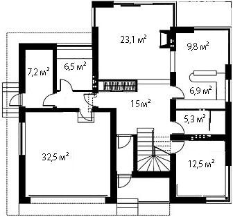 План первого этажа 88
