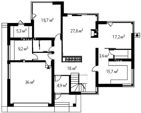 План первого этажа 89