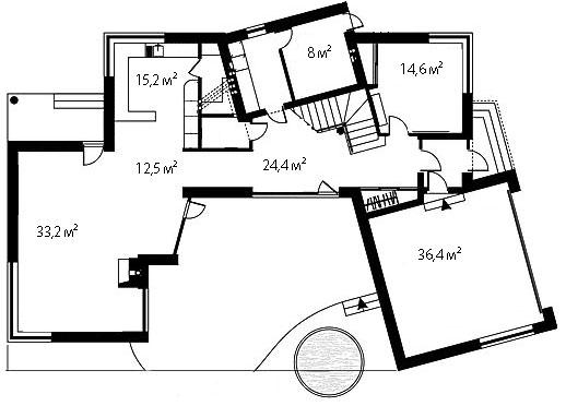 План первого этажа 90