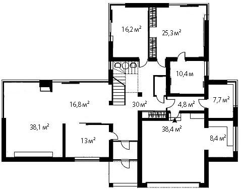 План первого этажа 91