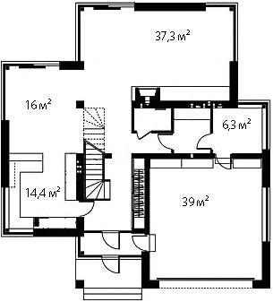 План первого этажа 93