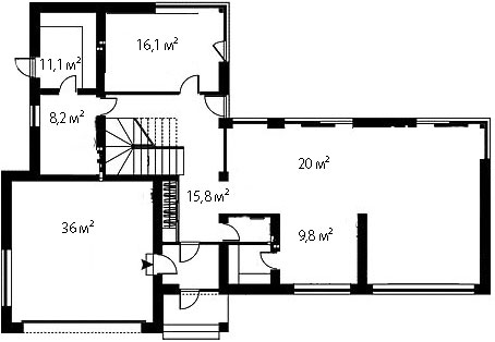План первого этажа 94