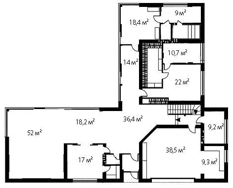 План первого этажа 95
