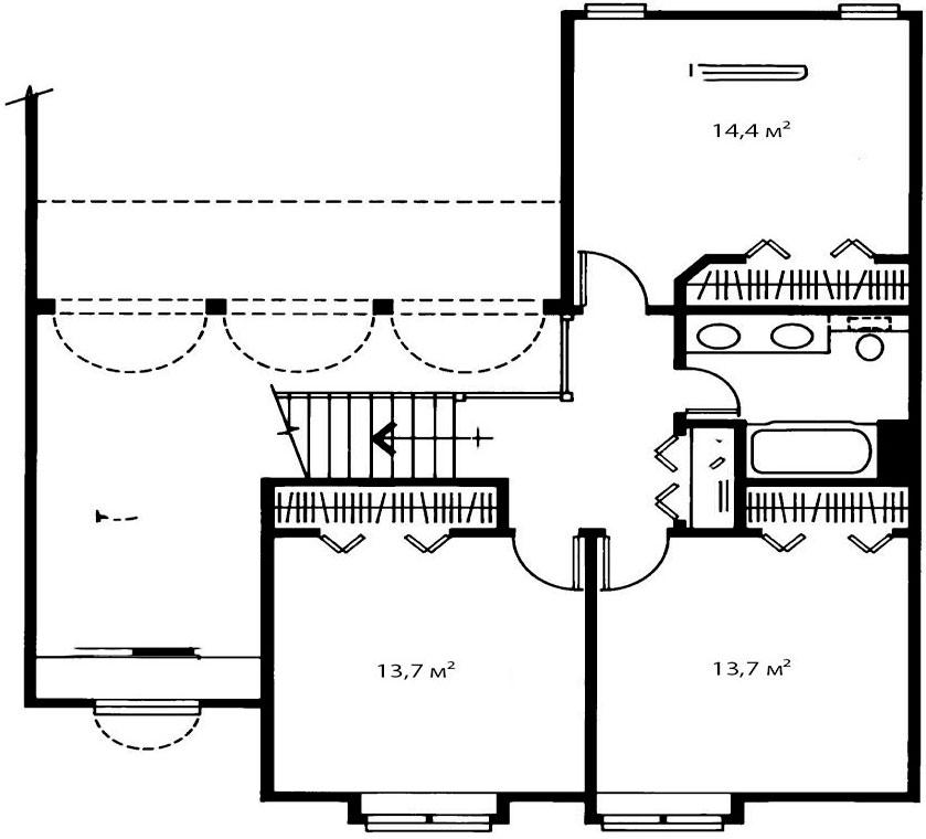 План второго этажа 2