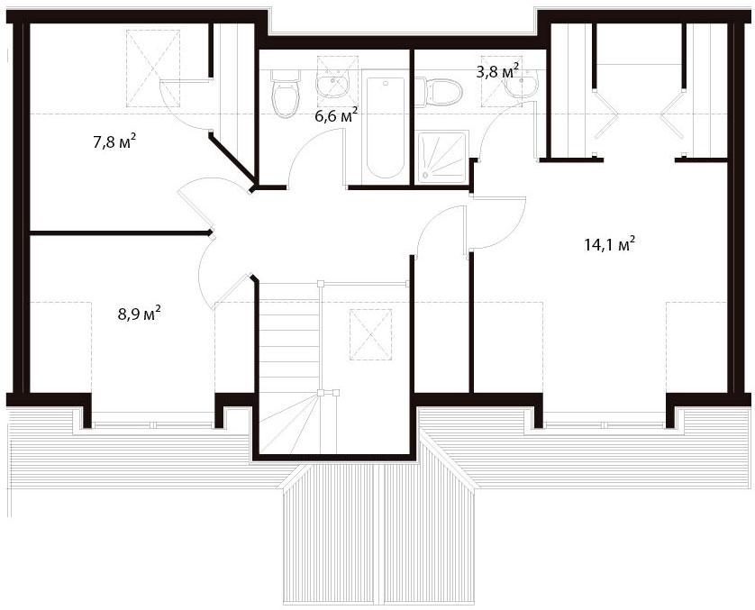 План второго этажа 25