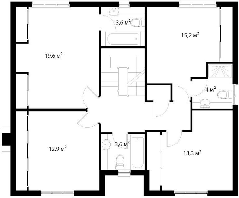 План второго этажа 26