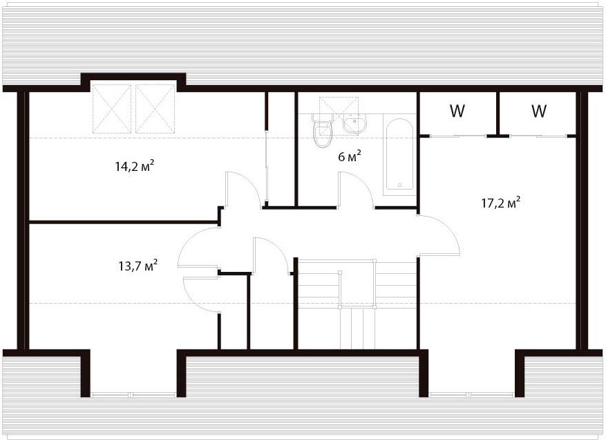 План второго этажа 32