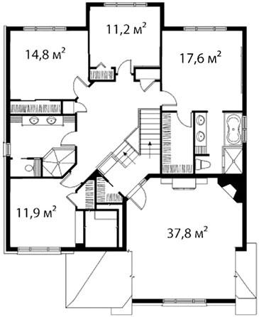 План второго этажа 35