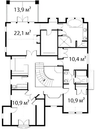 План второго этажа 36