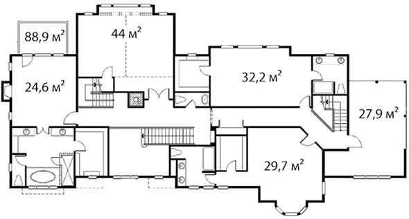 План второго этажа 37
