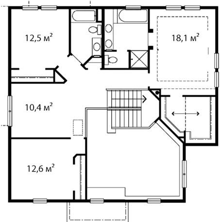 План второго этажа 42