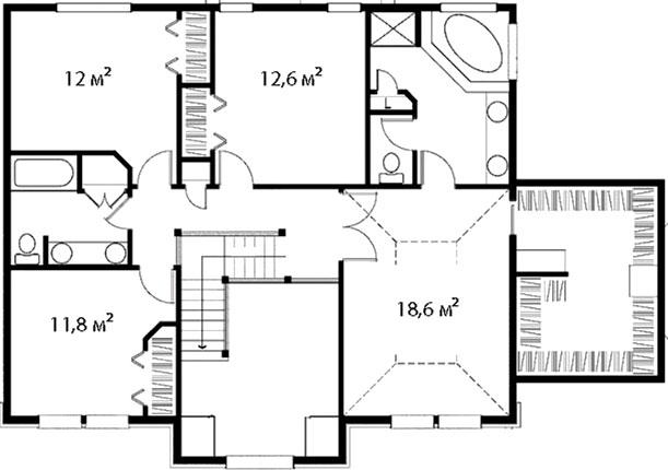 План второго этажа 43