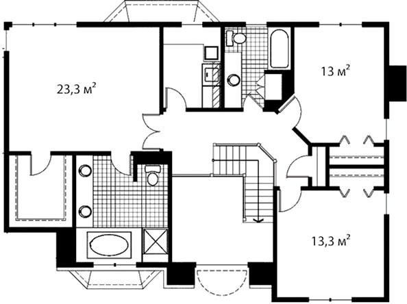 План второго этажа 44