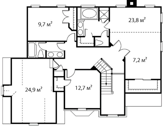 План второго этажа 45