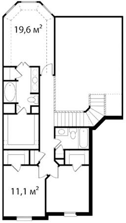 План второго этажа 55