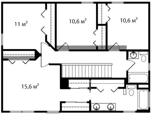 План второго этажа 56