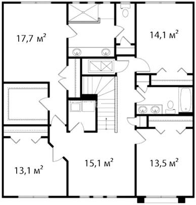 План второго этажа 59