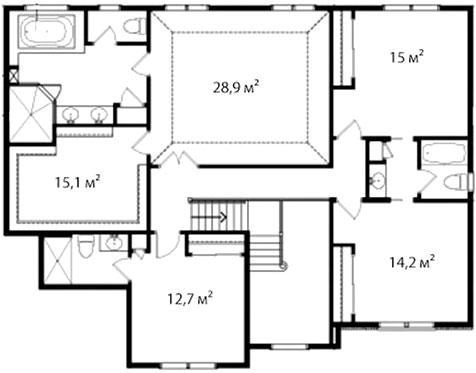 План второго этажа 61
