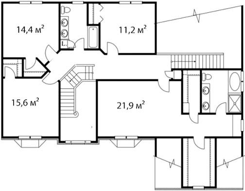 План второго этажа 64