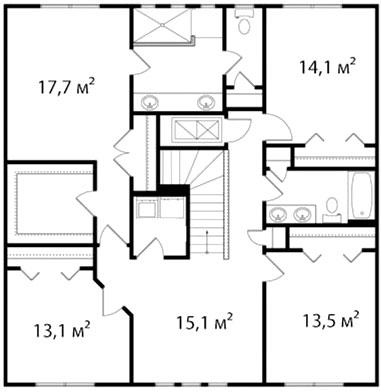 План второго этажа 65