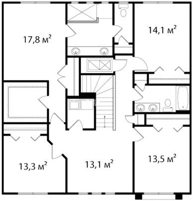 План второго этажа 66