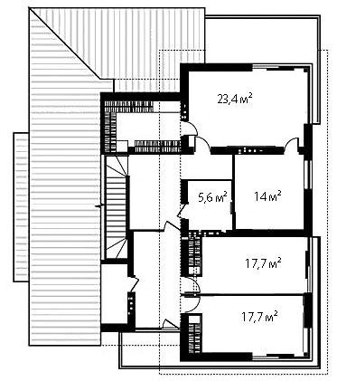 План второго этажа 102