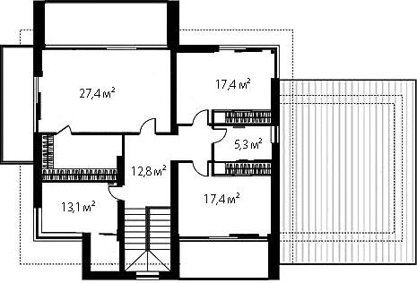 План второго этажа 74